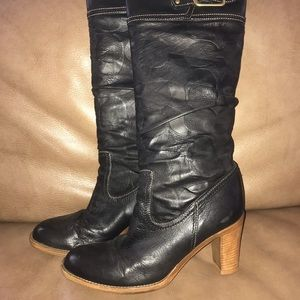 ***$35****Coach leather boots. Black leather.
